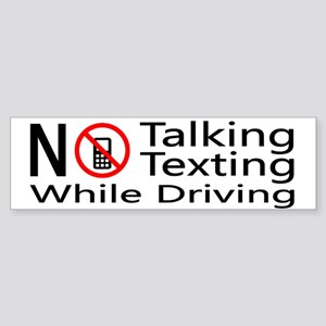 notalking_notexting Bumper Sticker
