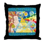 Creation Myth Watercolor Throw Pillow