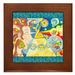 Creation Myth Watercolor Framed Tile
