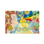 Creation Myth Watercolor Rectangle Magnet