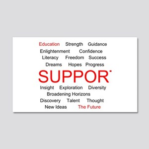 Support Education, Support the Future 22x14 Wall P