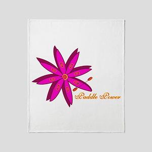 Kayak Paddle Power (Pink) Throw Blanket