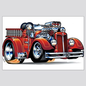 37 Seagrave Fire Truck Large Poster