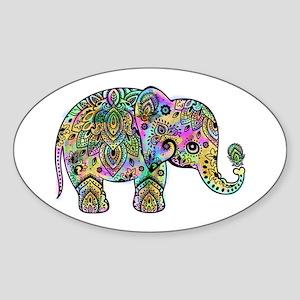 Colorful paisley Elephant Sticker