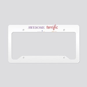 I Did It License Plate Holder