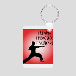 Karate Kid Aluminum Photo Keychain