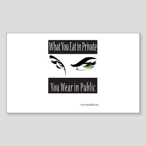 Private Eyes Sticker (Rectangle)