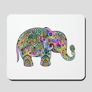 Colorful paisley Elephant Mousepad