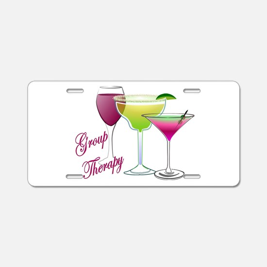 Group Therapy 2 Aluminum License Plate