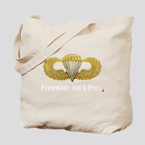 Gold Airborne Wings Tote Bag