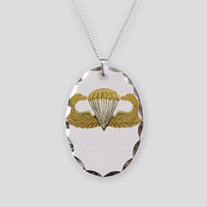 Gold Airborne Wings Necklace Oval Charm