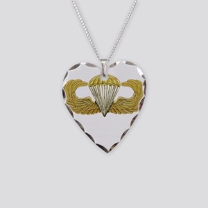 Gold Airborne Wings Necklace Heart Charm