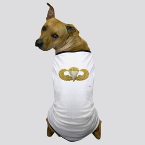 Gold Airborne Wings Dog T-Shirt