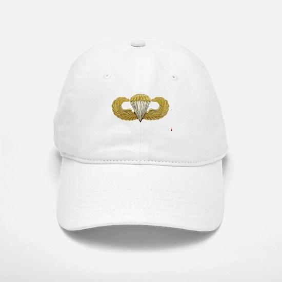 Gold Airborne Wings Baseball Baseball Cap