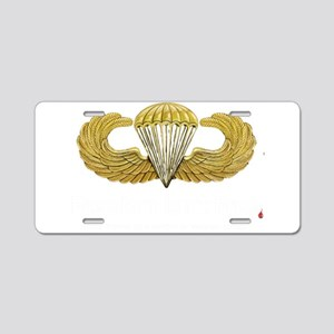 Gold Airborne Wings Aluminum License Plate