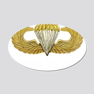 Gold Airborne Wings 22x14 Oval Wall Peel