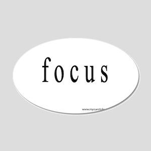 Focus 22x14 Oval Wall Peel