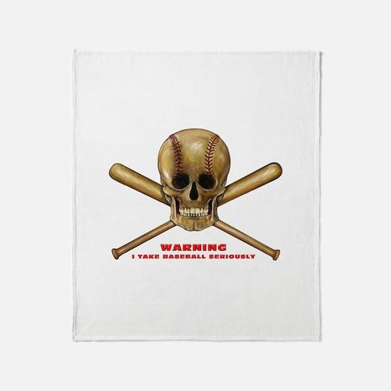 Funny Baseball bat Throw Blanket