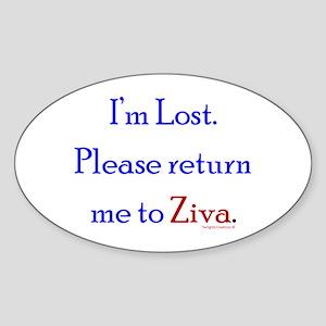 Return Me to Ziva Sticker (Oval)