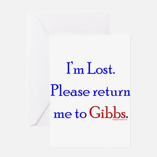 Return Me to Gibbs Greeting Card