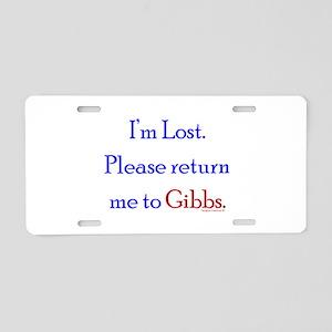 Return Me to Gibbs Aluminum License Plate