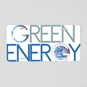Green Energy Aluminum License Plate