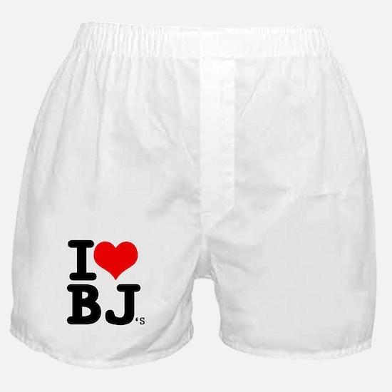 """SharpTee's """"I Love BJ's"""" Boxer Shorts"""