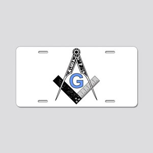 Masonic Square and Compass Aluminum License Plate