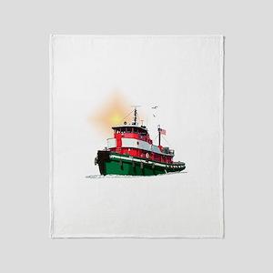The Tugboat Ohio Throw Blanket