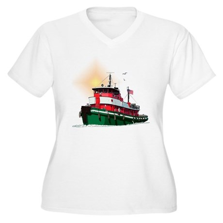 The Tugboat Ohio Women's Plus Size V-Neck T-Shirt