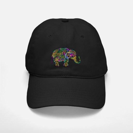 Colorful paisley Elephant Baseball Hat