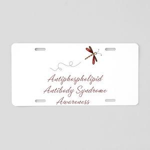 APS Awareness Dragonfly Aluminum License Plate