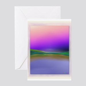 Rothko-esque Lansdcape - Fine Art Greeting Card