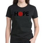 Hope for Japan ! Women's Dark T-Shirt