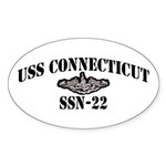 USS CONNECTICUT Sticker (Oval)
