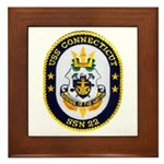 USS CONNECTICUT Framed Tile