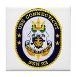 USS CONNECTICUT Tile Coaster