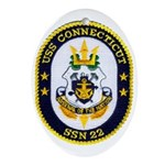 USS CONNECTICUT Ornament (Oval)