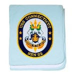 USS CONNECTICUT baby blanket