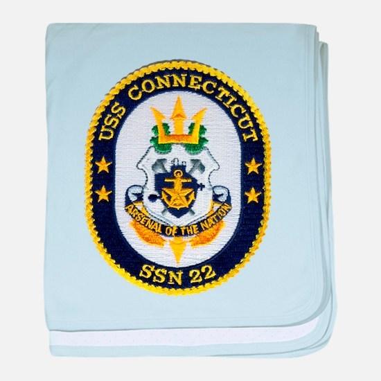 USS CONNECTICUT baby blanket