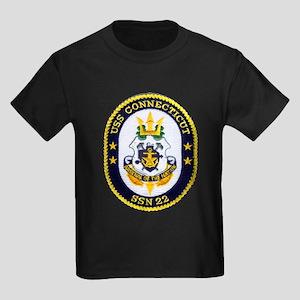 USS CONNECTICUT Kids Dark T-Shirt