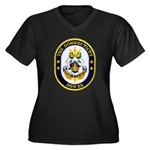 USS CONNECTICUT Women's Plus Size V-Neck Dark T-Sh