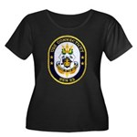 USS CONNECTICUT Women's Plus Size Scoop Neck Dark