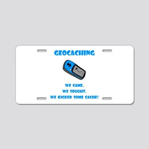 Geocaching Kick Some Cache! Aluminum License Plate