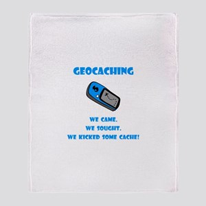 Geocaching Kick Some Cache! Throw Blanket
