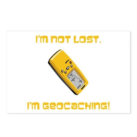 I'm not lost. I'm geocaching. Postcards (Package o