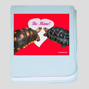 Be Mine Redfoot Tortoises baby blanket