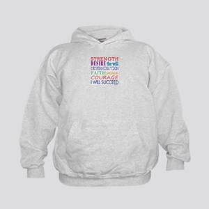 Encouraging Words Kids Hoodie