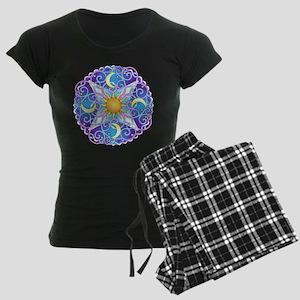 Celestial Mandala Women's Dark Pajamas