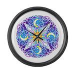 Celestial Mandala Large Wall Clock